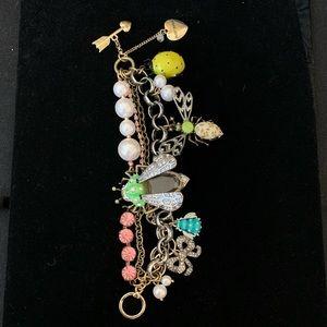 Betsey Johnson vintage critters toggle bracelet